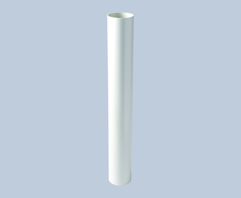 Kayflow round down pipe white  2.5m
